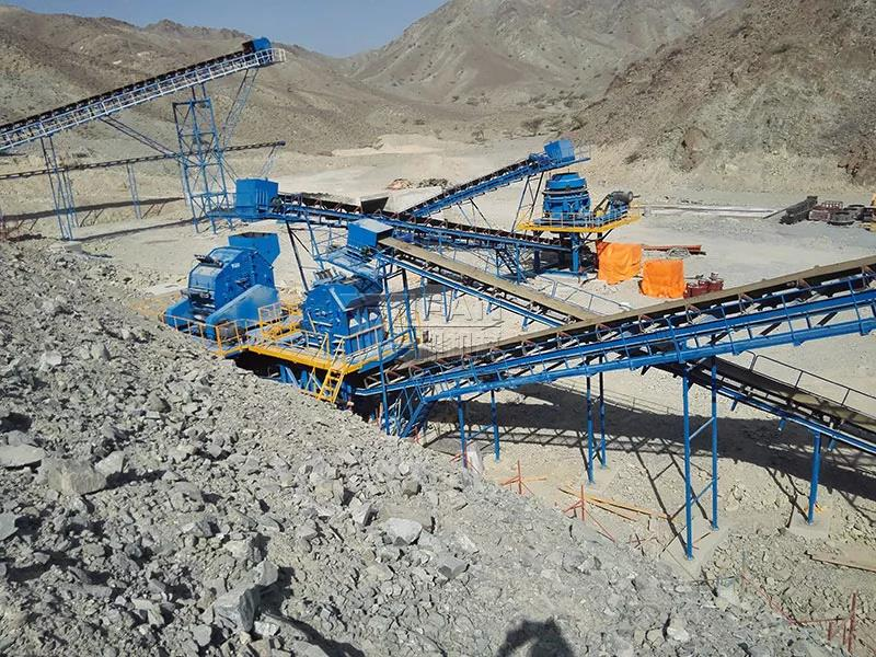 Zhengzhou Yifan gabbro crushing production line successfully put into production in the Middle East